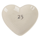 Demdaco, Meaningful Moments, 25th Anniversary Treasure Keeper, Stoneware, 4 x 3 1/2 inches