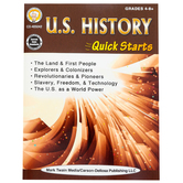 Carson Dellosa, U.S. History Quick Starts Workbook, 64 Pages, Grades 4 and up