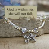 Collectables America, God is within her Psalm 46:5, Crystal Beaded Bracelet