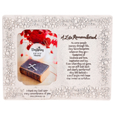 DaySpring, A Life Remembered Photo Frame, Resin, Holds 3 1/2 x 5 inch Photo, 7 7/8 x 7 inches
