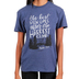 Gardenfire, Psalm 23:4 The Best View, Women's Short Sleeved T-Shirt, Denim Heather, Small