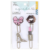 the Paper Studio, agenda 52 Girly Glam Paper Clips, 1 Each of 4 Designs
