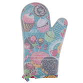 Two Lumps of Sugar, Yummy Cakes Mitt, Silicone and Cotton, Assorted Colors, 5 x 7 1/2 inches