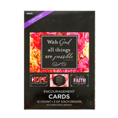 Brother Sister Design Studio, Floral Faith Phrases Encouragement Cards, 12 count