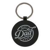 Christian Art Gifts, 1 Timothy 6:11 Best Dad Ever Keyring, Metal, Black, 3 x 1 3/4 inches