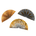 Glimmer of Gold Collection, Double-Sided Accent Paper Fans, 6 x 6 Inches, 3 Designs, Set of 9