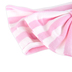 Brother Sister Design Studio, Striped Bow Headband, Pink & White, 6 1/2 x 4 inches