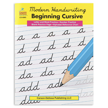 Modern Handwriting Beginning Cursive Resource Book, Reproducible, 33 Pages, Grades 2-5