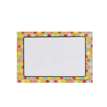 TooCute Collection, Self-Adhesive Labels, Multi-Colored Dots and Craft, 3.5 x 2.5 Inches, Pack of 36