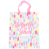 Renewing Faith, Medium Blessings to You Gift Bag, Pink,  9 1/2 x 11 1/2 Inches