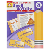 Evan-Moor, Skill Sharpeners Spell & Write Activity Book, Paperback, 144 Pages, Grade 4