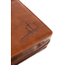 Christian Art, John 3:16 Bible Cover, Duo-Tone, Brown and Tan, Large