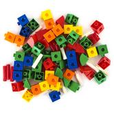 Edx Education, Construction Linking Cubes Mini Jar, 80 Pieces, Ages 3 & Older