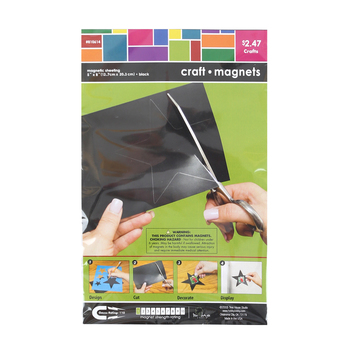 Tree House Studio, Flexible Adhesive Magnet Sheet, Black, 5 x 8 inches, 1 Count