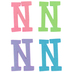 Glitter Foam Alphabet Letter Upper Case - N, 4 x 5.5 x .50 Inches, 1 Each, Assorted Colors