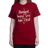 Kerusso, 1 Thessalonians 5:18 Pumpkin Spice and Jesus Christ, Women's Short Sleeve T-shirt, Red, S-3XL