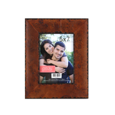 Rustic Wood Photo Frame, 5 x 7 inch, Brown and Black Veneer