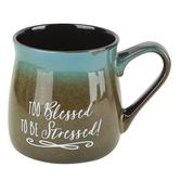 Dexsa, Too Blessed To Be Stressed Coffee Mug, Ceramic, 16 ounces