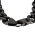 Spirit & Truth, 1 Timothy 6:11, Man of God, Men's ID Bracelet, Stainless Steel, Black, 8 1/2 Inches