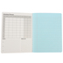 Pacon, Composition Book with Pastel Blue Pages, Wide Ruled, 9.75 x 7.50 Inches, Blue Cover, 100 Sheets
