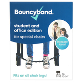 Bouncyband, Universal Bouncy Band Home, School, and Office Chairs, Black, Fits 10-24 Inches Wide