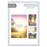 ThreeRoses, Nature Photo Anniversary Boxed Cards, 12 Cards with Envelopes