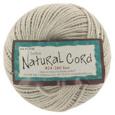 Natural Twisted Cotton Cable Cord, #24, 260 feet