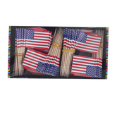 Brother Sister Design Studio, Patriotic Flag Snack Picks, Red/White/Blue, 1 1/4 x 2 1/2 inches, Pack of 144