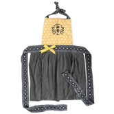 Kay Dee Designs, Queen Bee Embroidered Apron, Cotton, White, Gray, Yellow, Adult Size