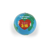 Fun Express, Vinyl Inflatable God Loves the World Globe, 10 Inches, 1 Piece
