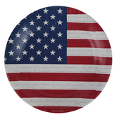 Brother Sister Design Studio, Patriotic Large Plates, Red/White/Blue, 10 1/2 inches, 20 Plates