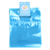 Bright Ideas, Zipper Bags with Handle, Soft Blue, Translucent Plastic, 20 Count