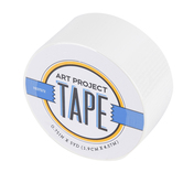 White Mini Art Project Tape, 3/4 inches x 5 yards, 1 Roll