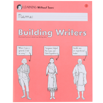 Learning Without Tears, Building Writers D Student Workbook, Paperback, Grade 3