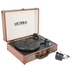Victrola, The Journey Bluetooth Suitcase Record Player, Brown, 14 x 10 x 1/2 inches