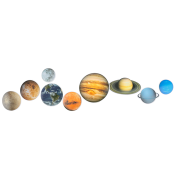 Renewing Minds, Planets Mini Cutouts, Multi-Colored, 3 Inches, 9 Designs, 36 Pieces