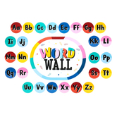 Colorfetti Collection, Word Wall Bulletin Board Set, Multi-Colored, 47 Pieces