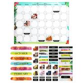Renewing Minds, Customizable Photo Calendar Bulletin Board Set, Multi-Colored, 107 Pieces