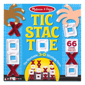 Melissa & Doug, Tic Stac Toe, 10 1/2 x 10 1/2 inches, Ages 8 & Older