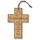 Autom, Spirit of the Lord Confirmation Cross, Wood, 3 1/4 x 4 3/4 inches