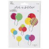 the Paper Studio, Birthday Balloon Glitter Stickers, 12 Stickers