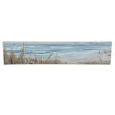 Shoreline Textured Wall Art, Canvas, 28 x 6 inches
