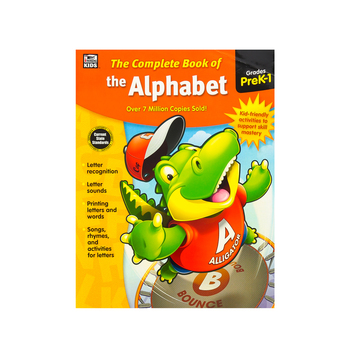 Carson-Dellosa, The Complete Book of the Alphabet Workbook, Paperback, 416 Pages, Grade PreK-1