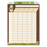 Woodland Tails Collection, Customizable Incentive Chart, Multi-Colored, 17 x 22 Inches, 1 Piece