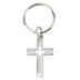 H.J. Sherman, Holy Spirit Cross Keyring, Chrome Pewter, 1.25 x .75 Inches