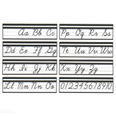 Schoolgirl Style, Simply Stylish Alphabet Line Cursive Mini Bulletin Board Set, 8 Pieces, Grades 2-5