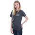 Beautifully Blessed, Thankful Blessed Coffee Obsessed, Women's Short Sleeve T-Shirt, Graphite, Small