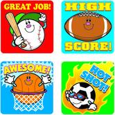 Carson Dellosa, Sports Stickers, 1 x 1 Inch, Multi-Colored, Pack of 120