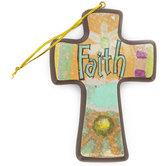 Mini Cross, Colorful Boho Faith Hanging Cross, 4 3/4 x 3 3/4 inches
