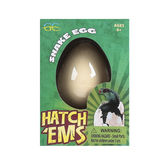 GeoCentral, Hatch'ems Snake Egg Growing Pet Toy, Ages 6 and Older